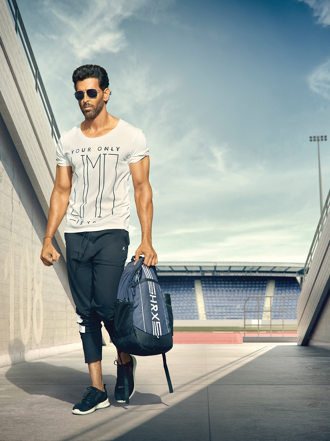 2d08a3e414d Buy HRX Active By Hrithik Roshan Black Knitted Track Pants - Track ...