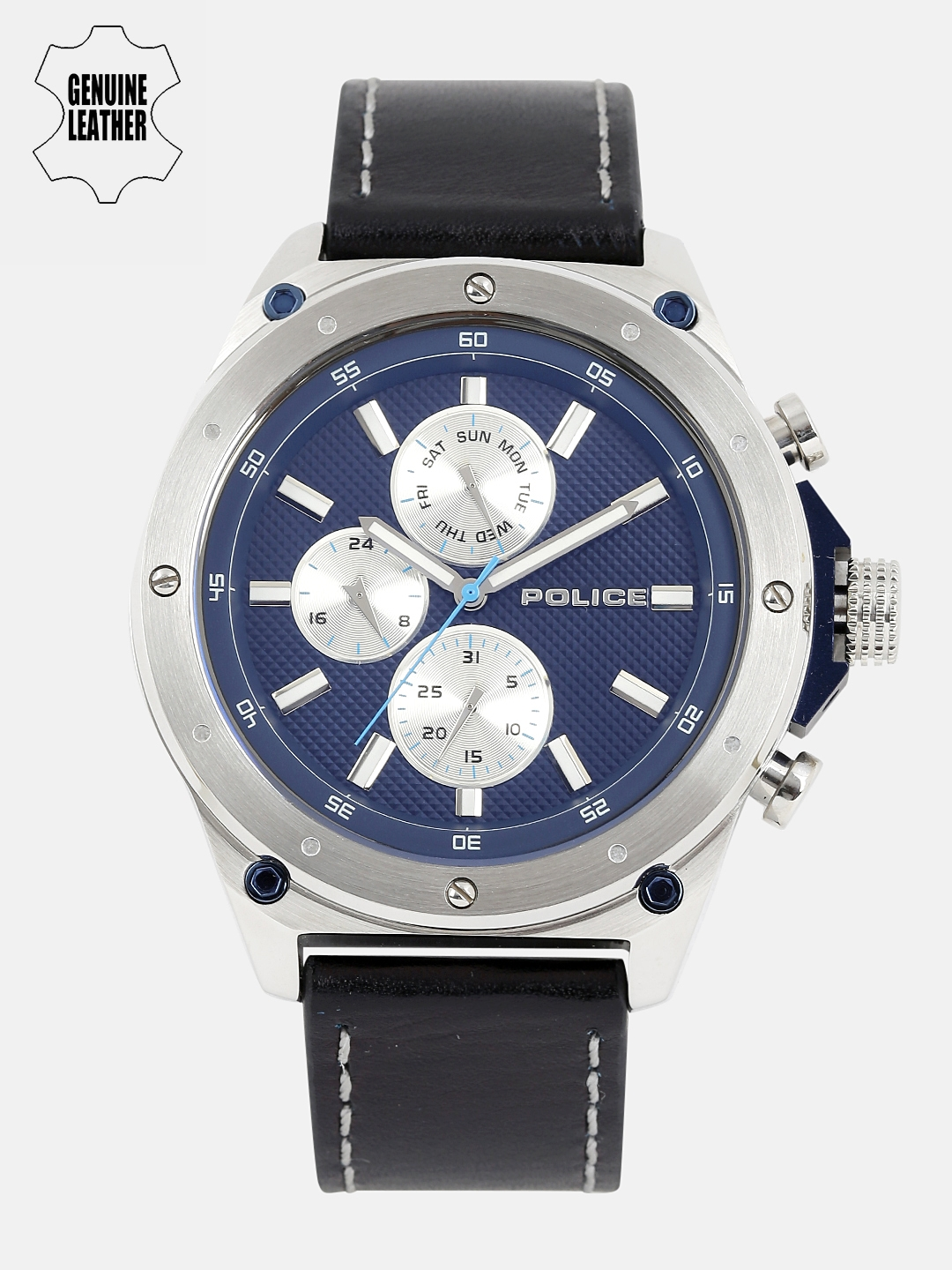 9c6aa8ffd57 Police Men Navy Blue   Silver-Toned Analogue Watch PL14537JS03A BBD