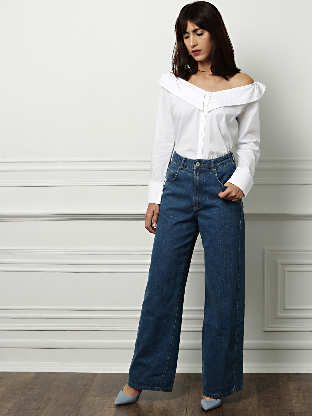 2a29e85b00 all about you from Deepika Padukone Women Off-White Solid Shirt Style Top