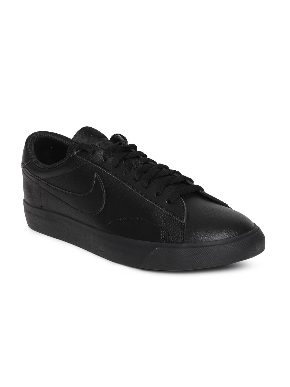 new style a1805 b68da Nike Men Black CLASSIC AC Sneakers