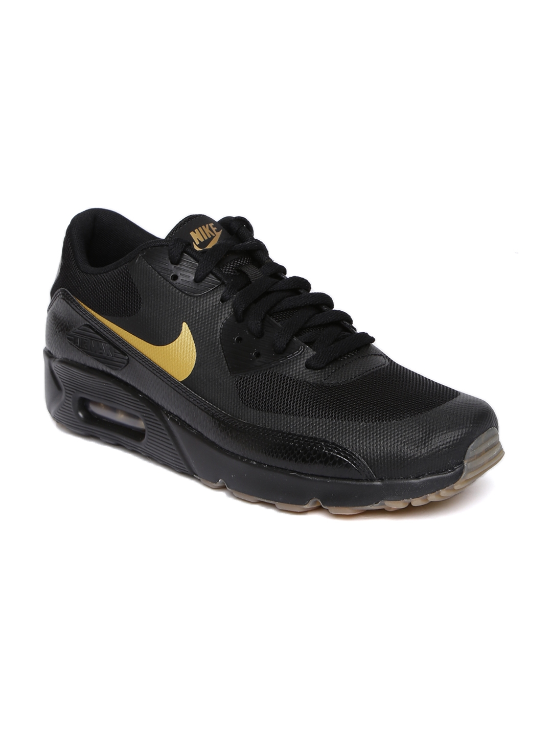 hot sale online da3db 4b578 Nike Men Black AIR MAX 90 ULTRA 2.0 ESSENTIAL Sneakers
