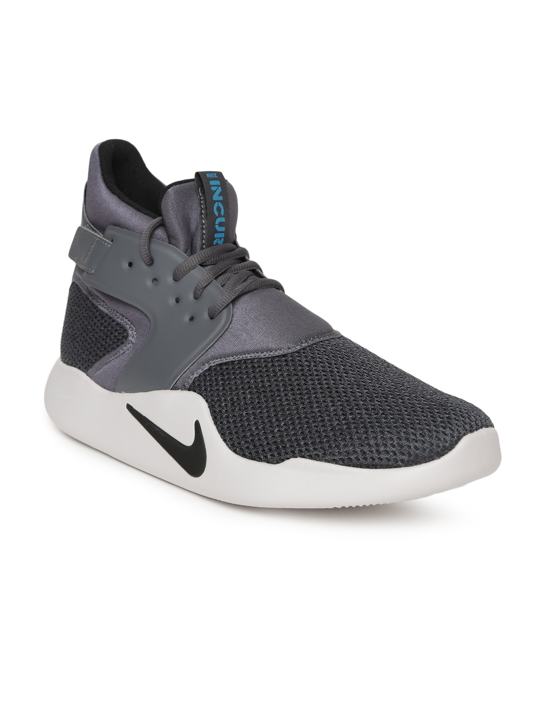 c2a863b7e12 Nike Men Charcoal Solid Textile NIKE INCURSION MID SE Mid-Top Sneakers