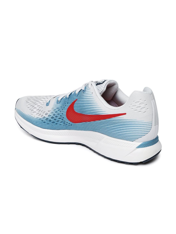 542147d699f0a Buy Nike Men Grey   Blue AIR ZOOM PEGASUS 34 Running Shoes - Sports ...