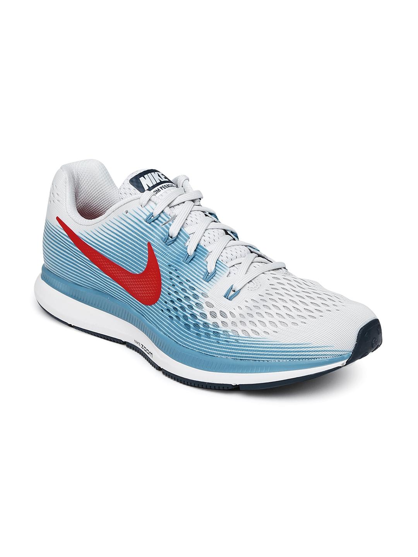 150f27f120d3 Buy Nike Men Grey   Blue AIR ZOOM PEGASUS 34 Running Shoes - Sports ...