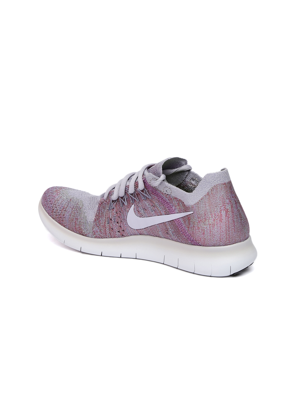 79c4103b Buy Nike Women Grey & Purple FREE FLYKNIT 2017 Running Shoes ...