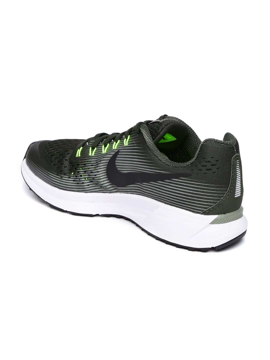 70ad48a45bf2 Buy Nike Boys Olive Green ZOOM PEGASUS 34 Running Shoes - Sports ...