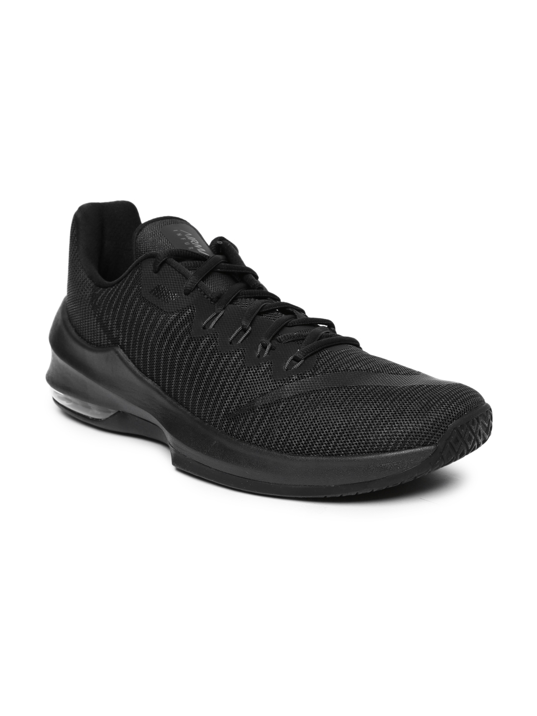 hot sale online 51d9b aa48a Nike Men Black AIR MAX INFURIATE 2 LOW Basketball Shoes