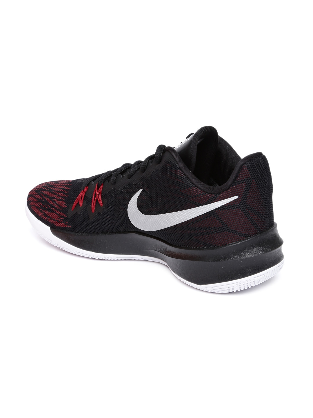 meet 5c909 d6b68 Nike Men Black ZOOM EVIDENCE II Textile Basketball Shoes