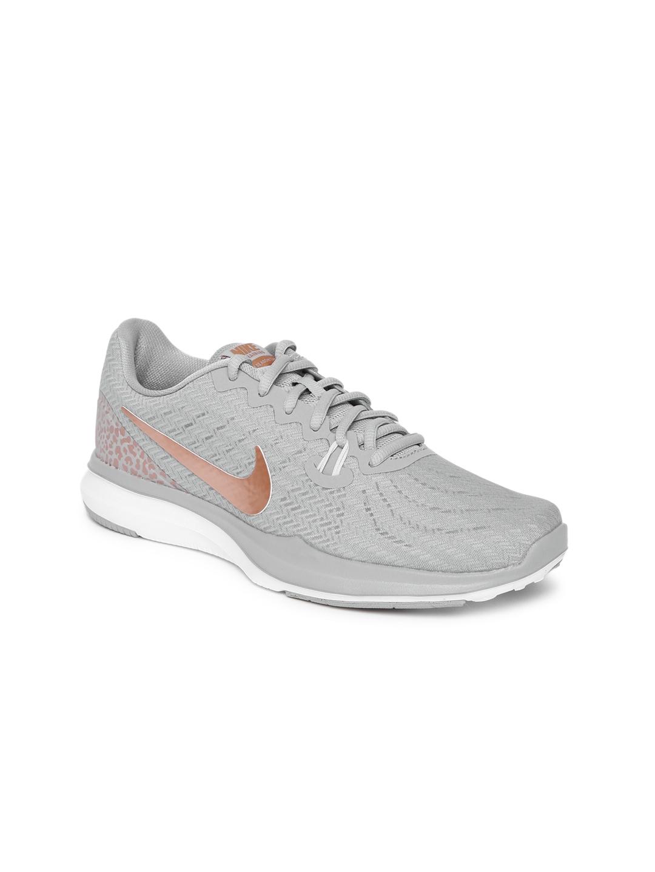 0123163b0bed8 Buy Nike Women Grey W NIKE IN SEASON TR 7 PRNT Training Or Gym Shoes ...