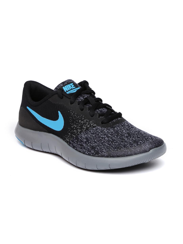 be10d177fb71 Buy Nike Boys Charcoal Grey   Black FLEX CONTACT Running Shoes ...