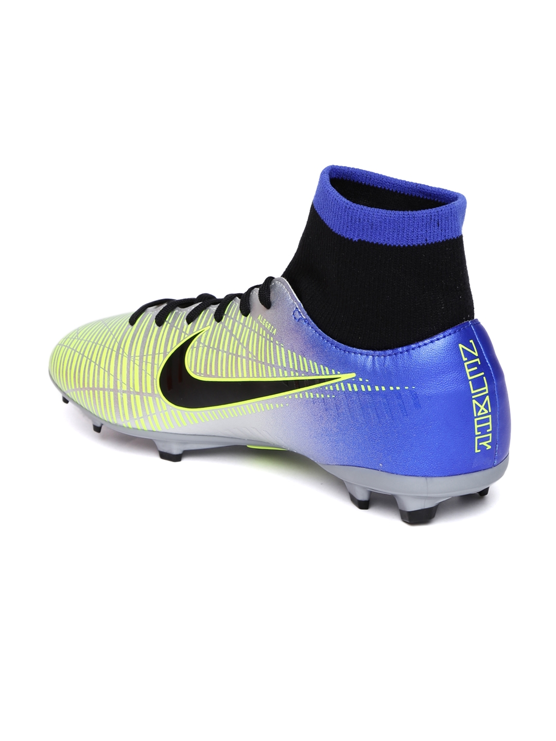 f4bede2012 Nike Kids Silver-Toned & Blue MERCURIAL VCTRY 6 DF neymar firm ground  Football Shoes