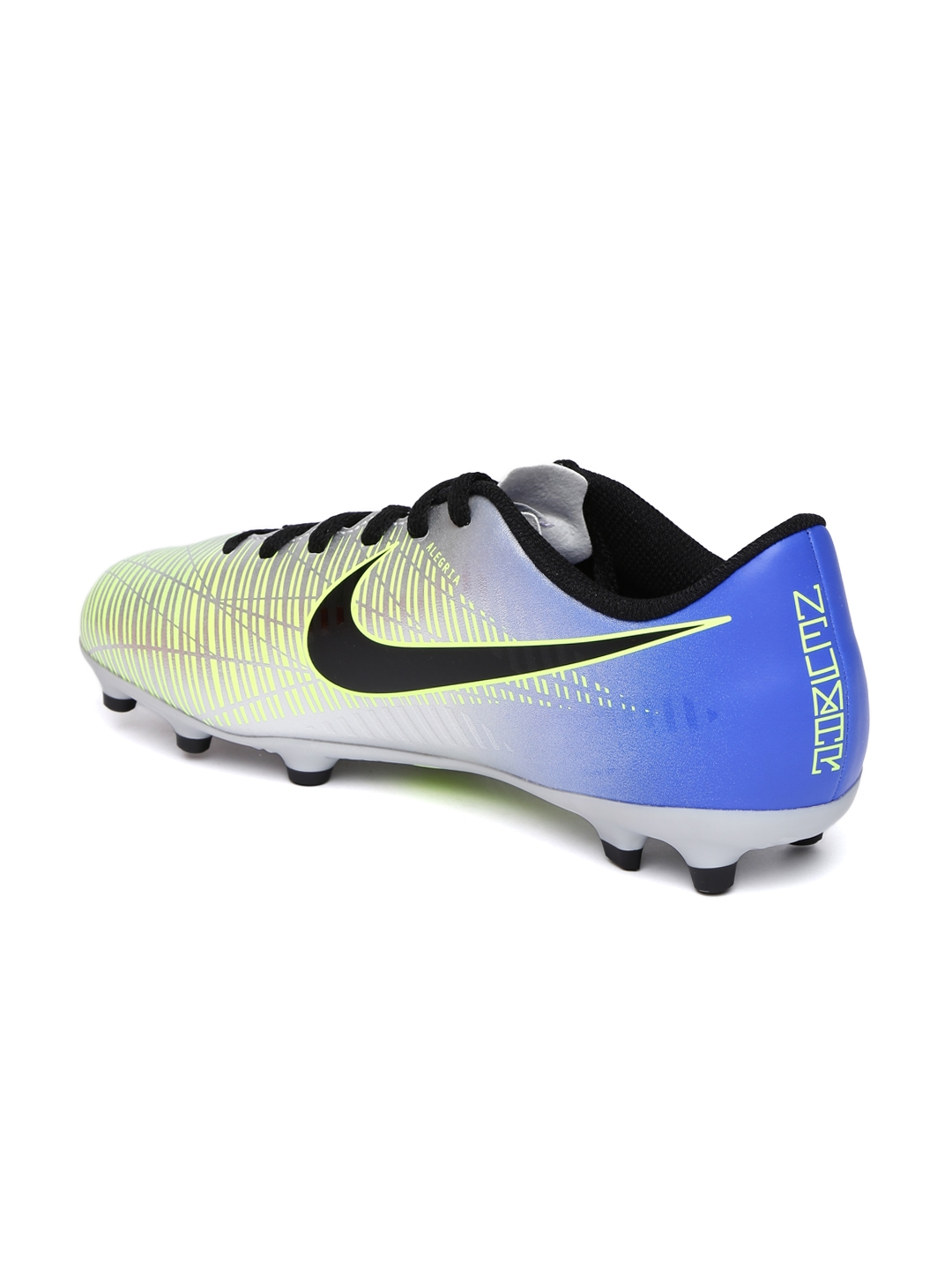 f870f9122 Nike Kids Silver-Toned MERCURIAL VORTEX III neymar firm ground Football  Shoes