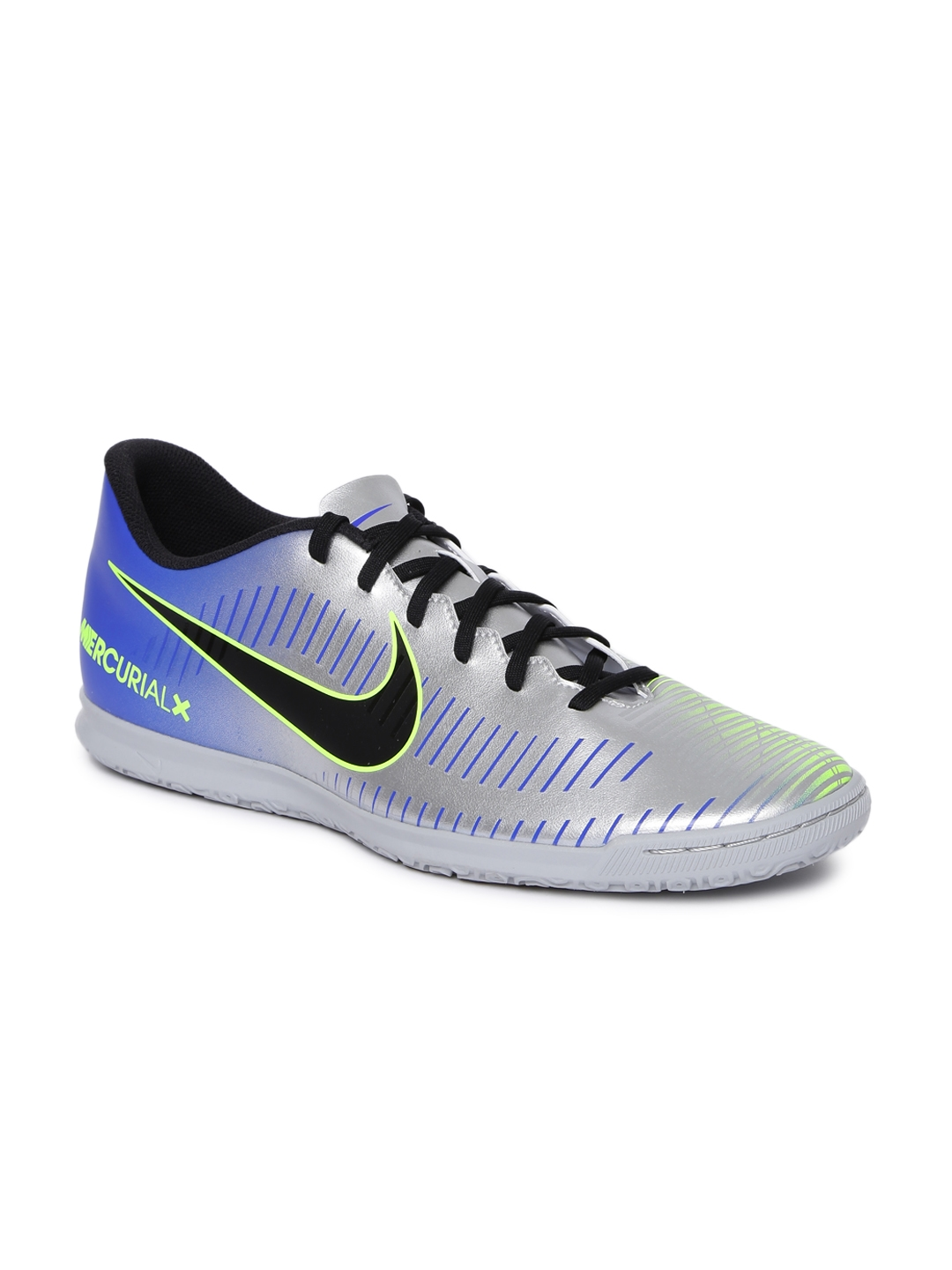 f1bd6adfa Nike Men Silver-Toned MERCURIAL VICTORY VI Neymar Indoor Court Football  Shoes