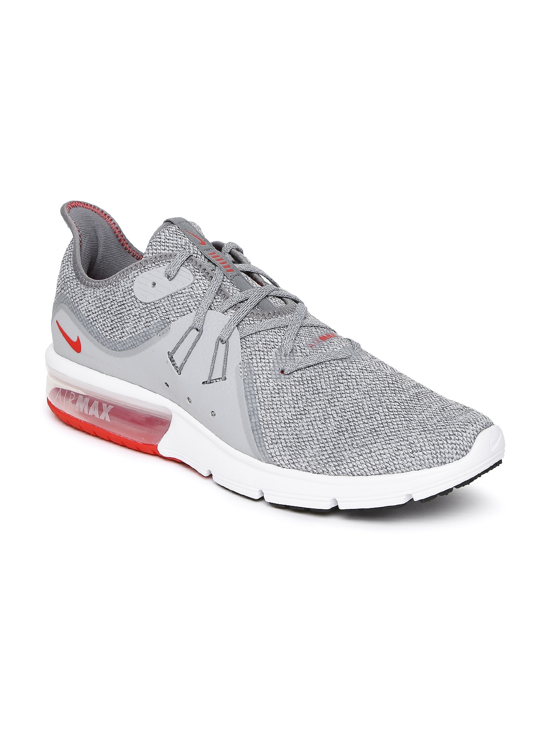 5dc3a9005 Buy Nike Men Grey AIR MAX SEQUENT 3 Running Shoes - Sports Shoes for ...