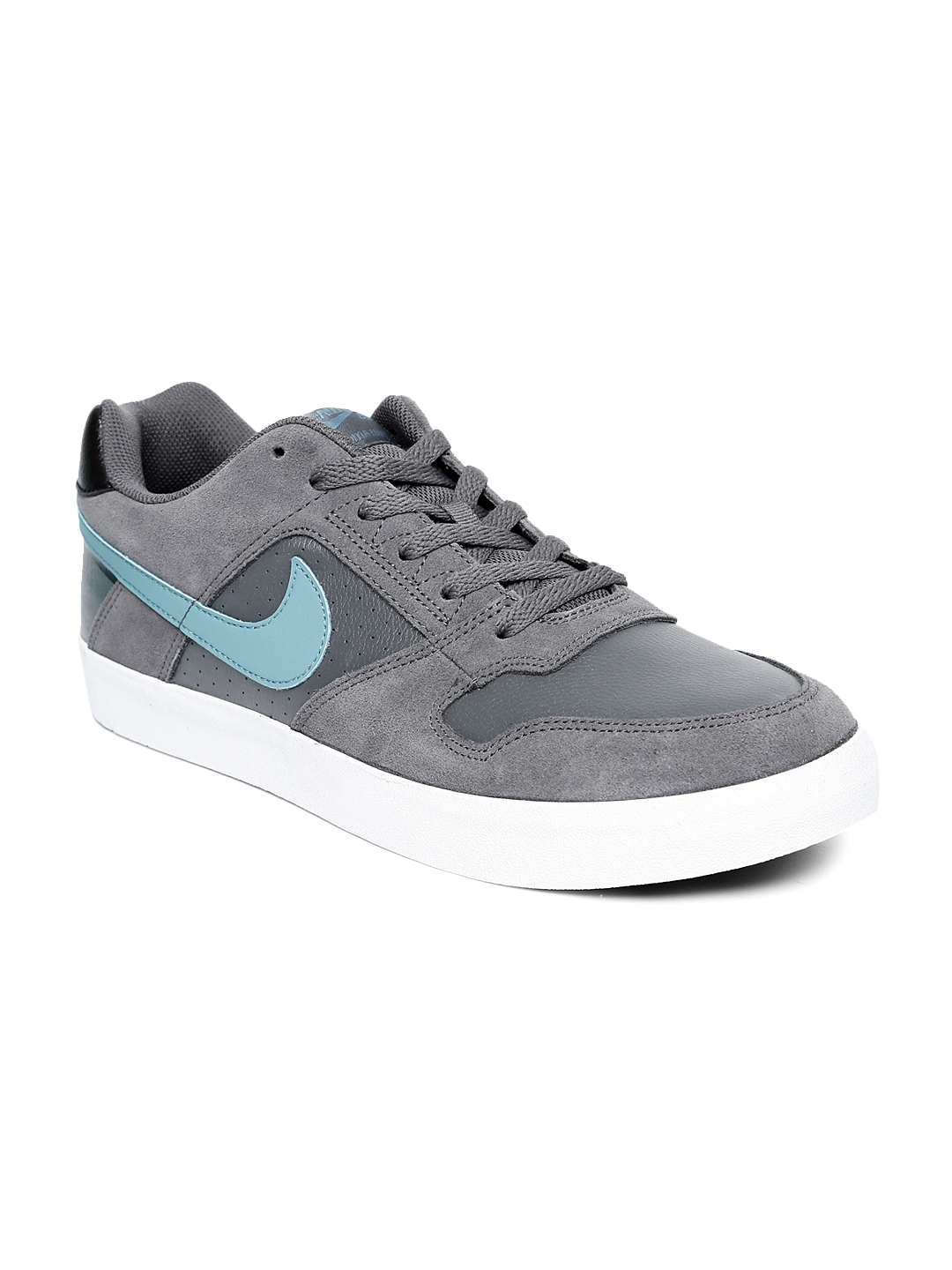 abc79640aab9f0 Buy Nike Men Grey SB DELTA FORCE VULC Suede SkateBoarding Shoes ...
