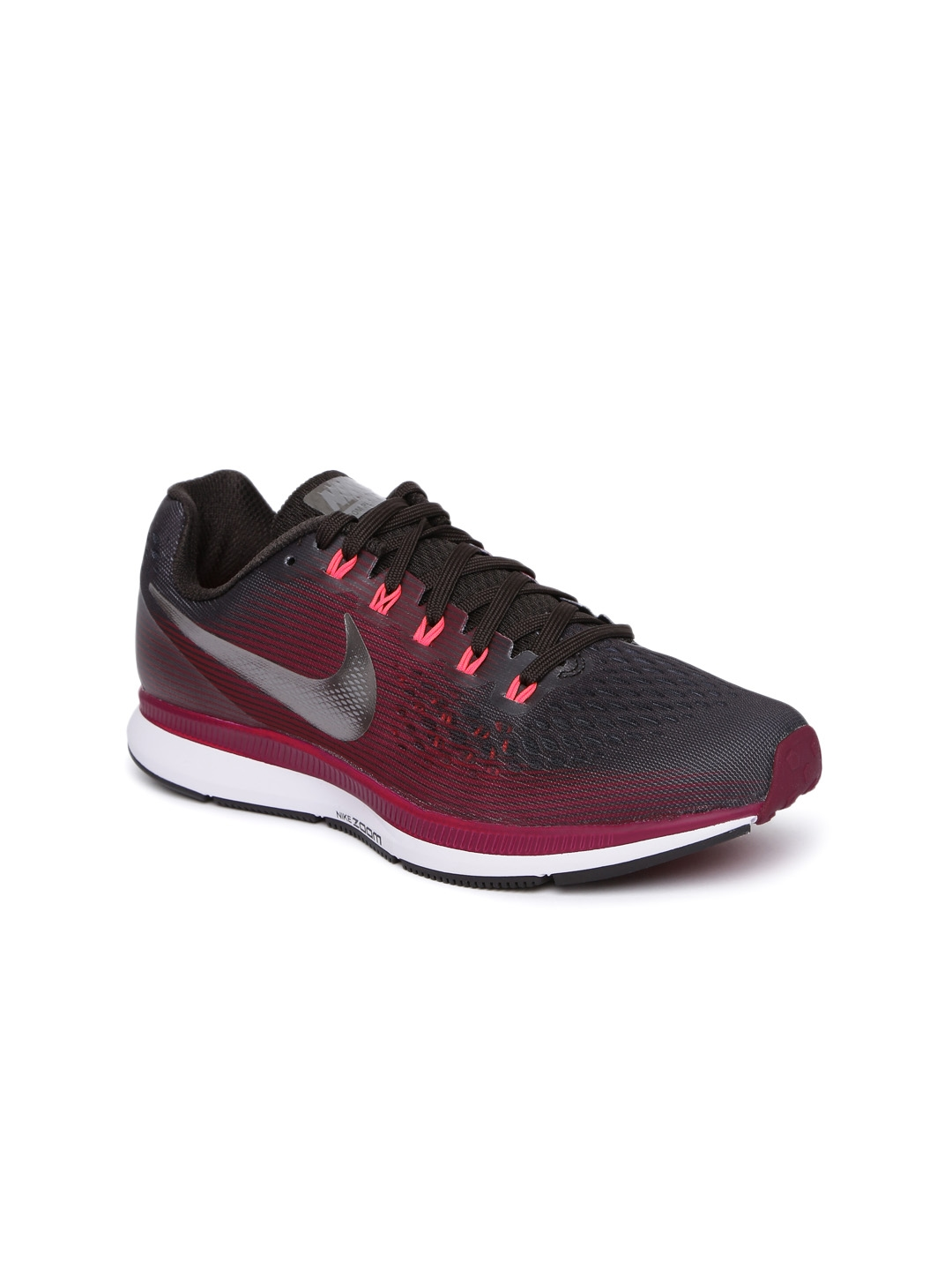 3c6bd4f9528a1 Buy Nike Women Burgundy W AIR ZOOM PEGASUS 34 GEM Running Shoes ...