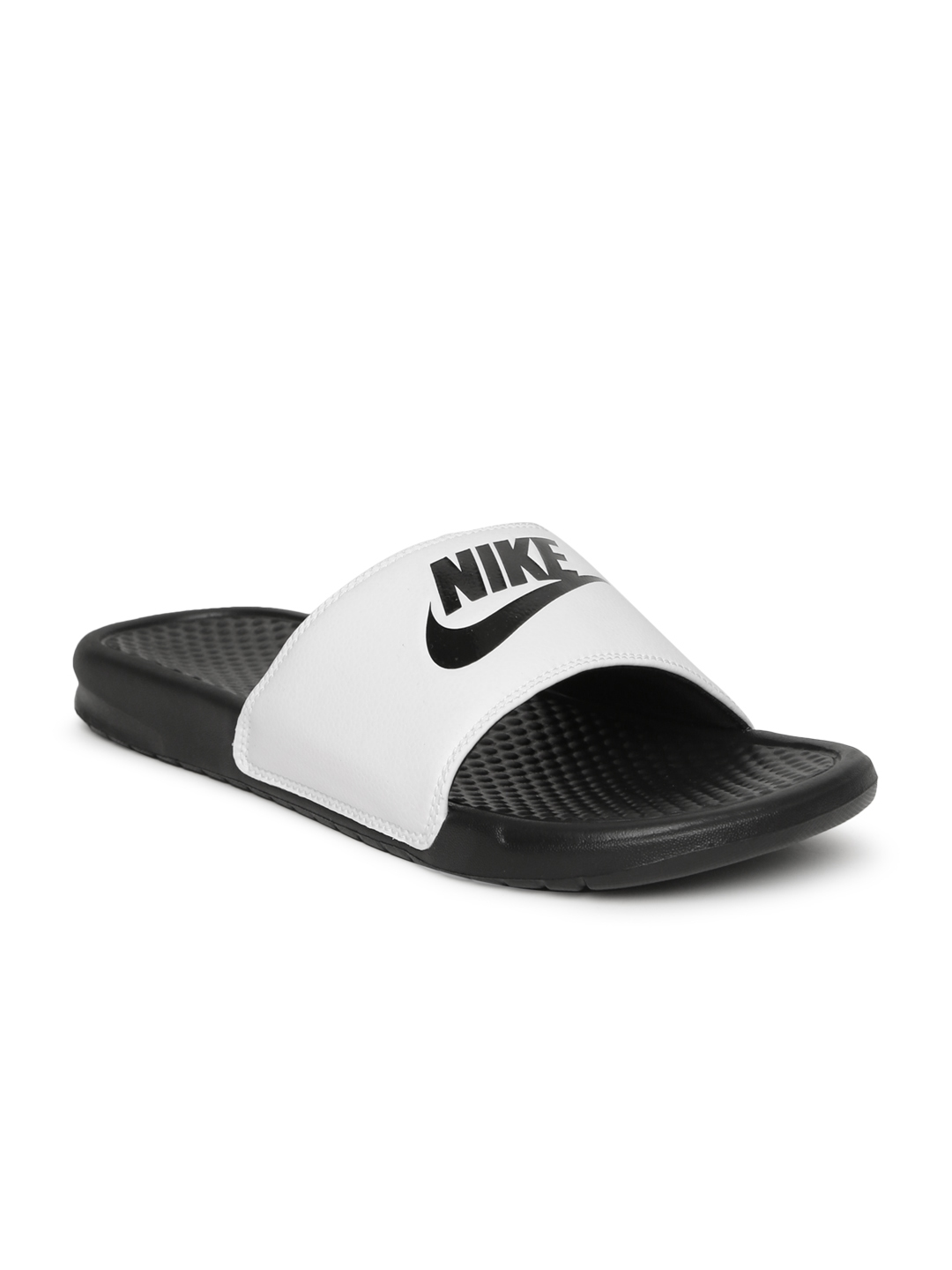0015aa8783 Buy Nike Men White   Black BENASSI JDI Printed Flip Flops - Flip ...