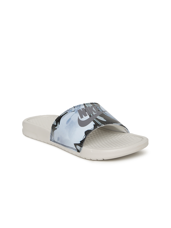 f53a7dbdade3 Buy Nike Women Blue   Black BENASSI JDI Printed Flip Flops - Flip ...