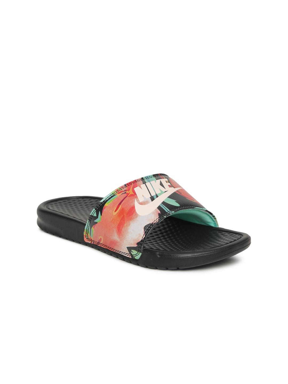 28050010b241 Buy Nike Women Multicoloured BENASSI JDI Printed Flip Flops - Flip ...