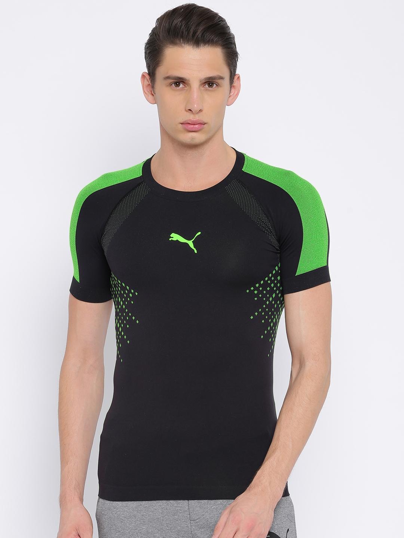 12499395728 Buy Puma Men Black IT EvoTRG EvoKNIT Printed T Shirt - Tshirts for ...