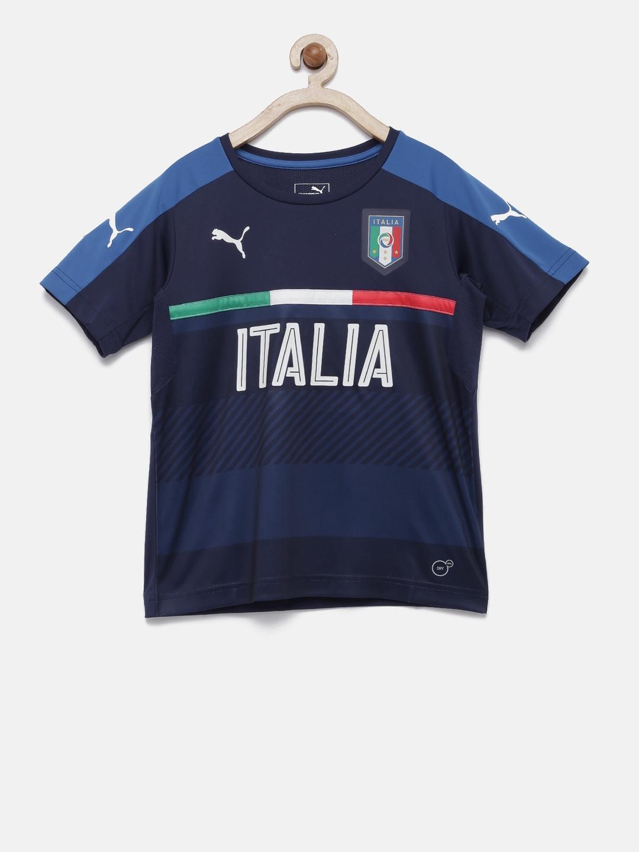 0bc1f582377 Buy Puma Boys Navy Blue FIGC Italia Training Jersey Printed T Shirt ...