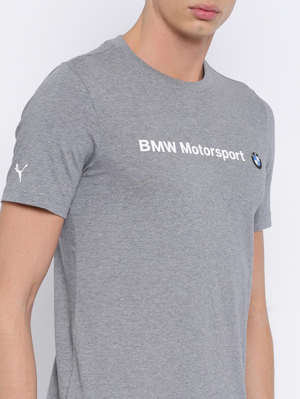 515f0db1 Buy Puma Men Grey Melange Solid BMW MSP T Shirt - Tshirts for Men ...
