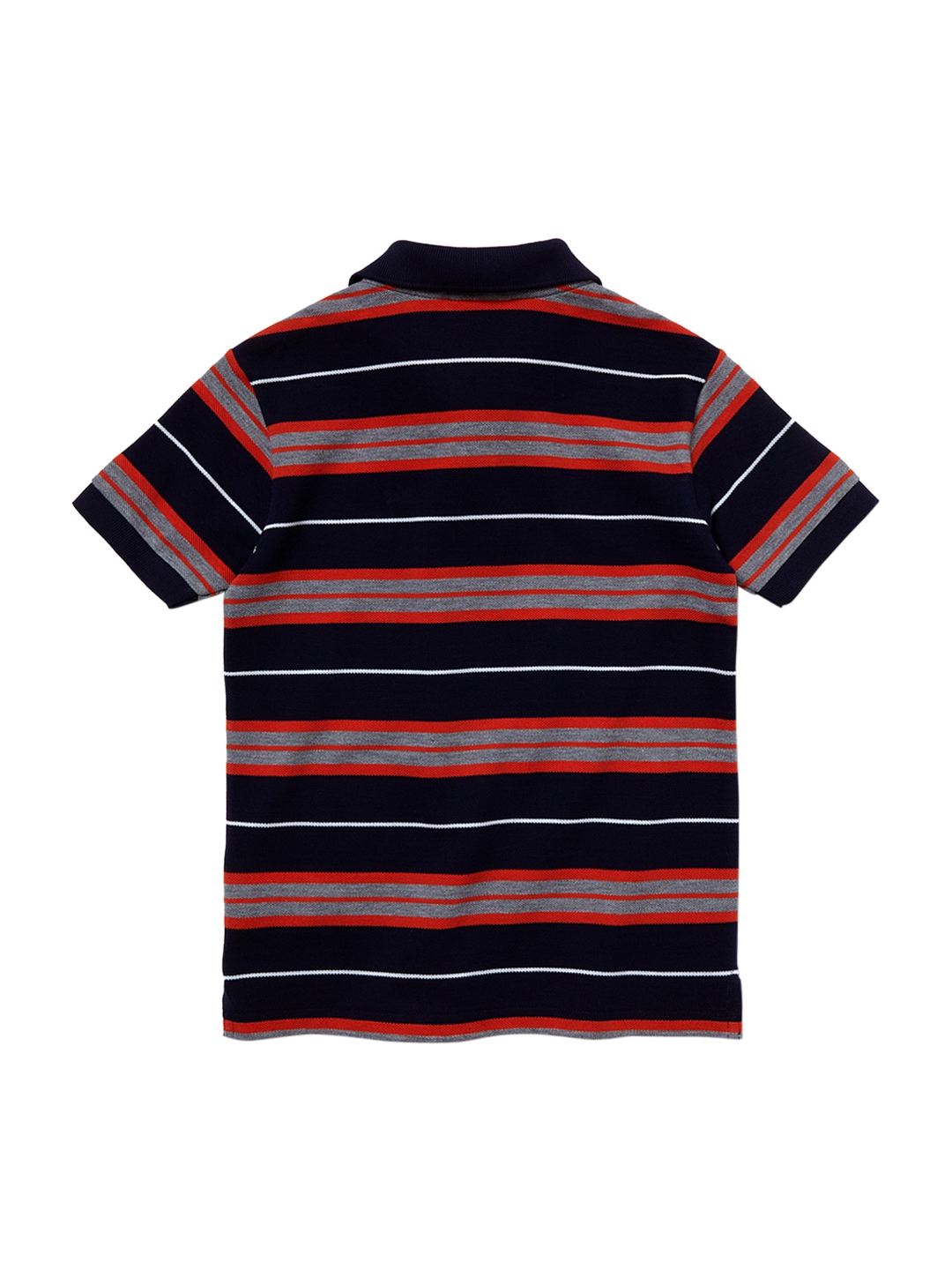 23c7d26292d3 Buy Lacoste Boys Navy Blue Striped Polo Collar T Shirt - Tshirts for ...