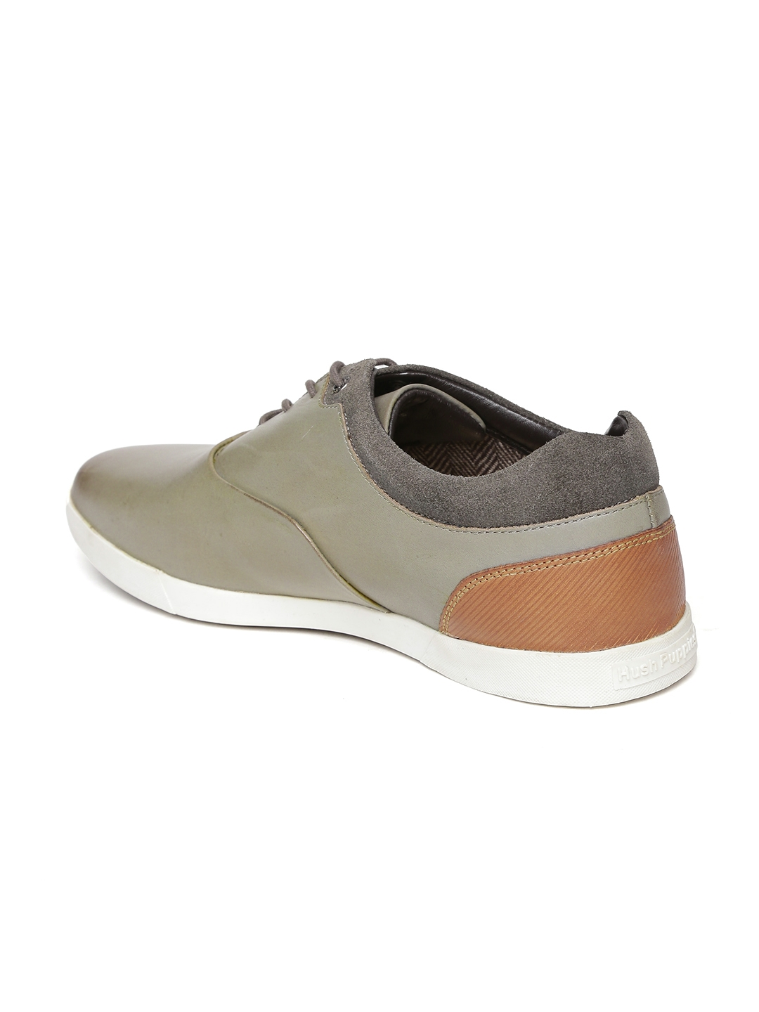 0f1fc87ed1ab1 Buy Hush Puppies Men Grey Leather Sneakers - Casual Shoes for Men ...