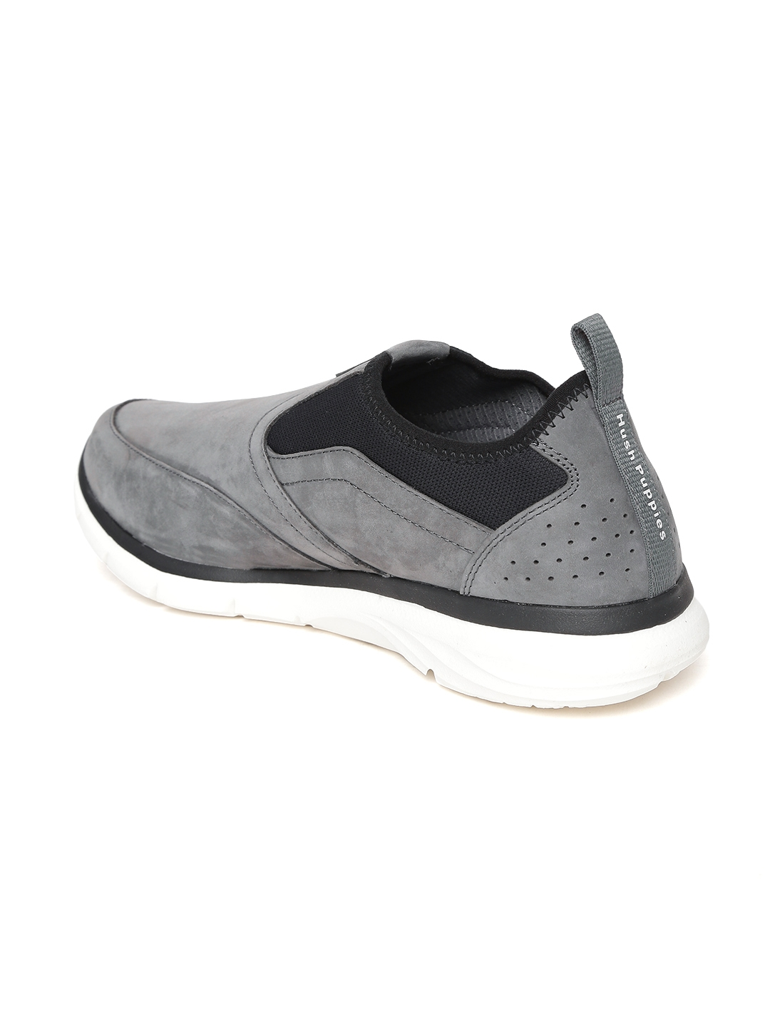 1fcf1114d9d40 Buy Hush Puppies Men Grey Leather Slip On Sneakers - Casual Shoes ...