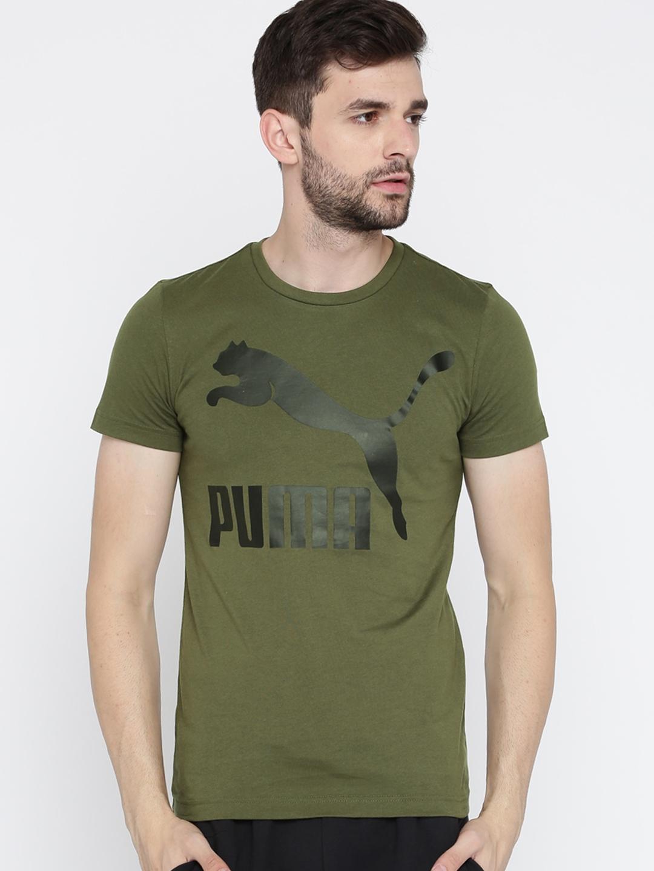 Puma Mens Archive Logo Tee Print T Shirt Clothing Men