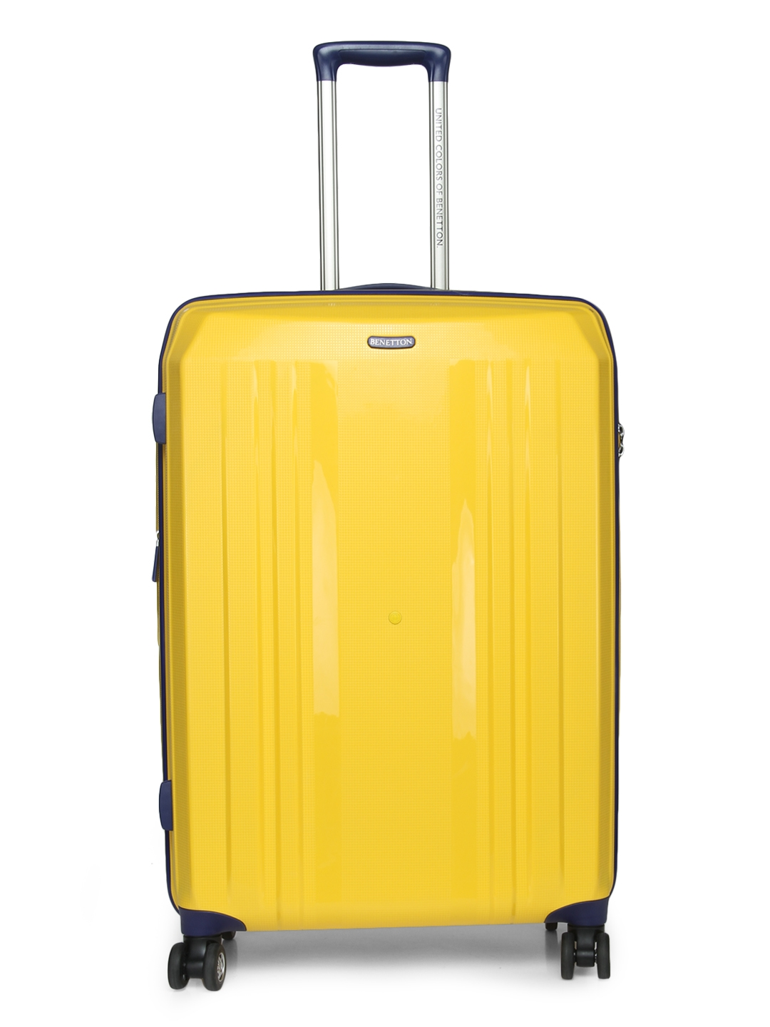 5d3bd0ec9d15 Buy United Colors Of Benetton Unisex Yellow Large Trolley Suitcase ...