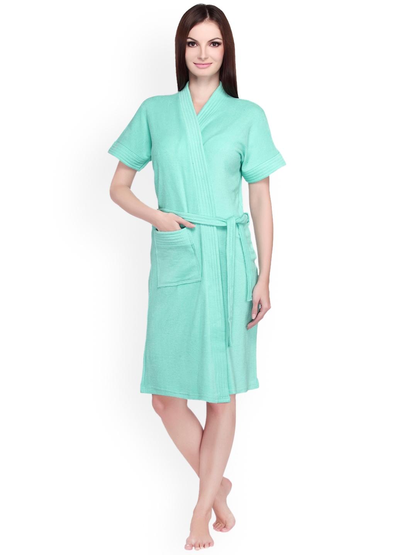 Buy Sand Dune Women Sea Green Bathrobe - Bath Robe for Women 2319683 ... 4c5d5abb3