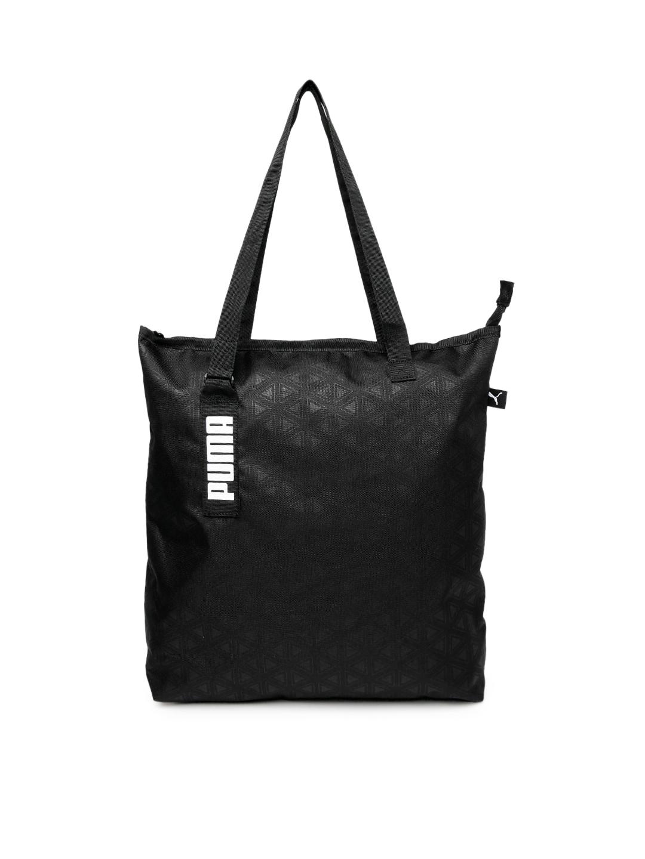 65e03d5d29329 Buy Puma Unisex Black Solid Core Active Shopper Shoulder Bag ...