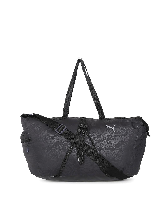 Buy Puma Black Fit AT Workout Shoulder Bag - Handbags for Women ... ea70153fbc23c