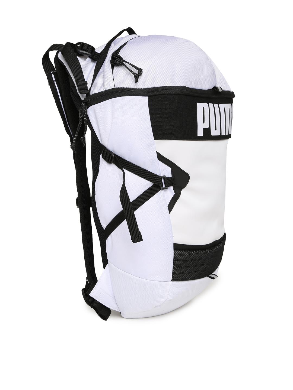cbb11bcfa126 Buy Puma Unisex White Solid Stance Backpack - Backpacks for Unisex ...
