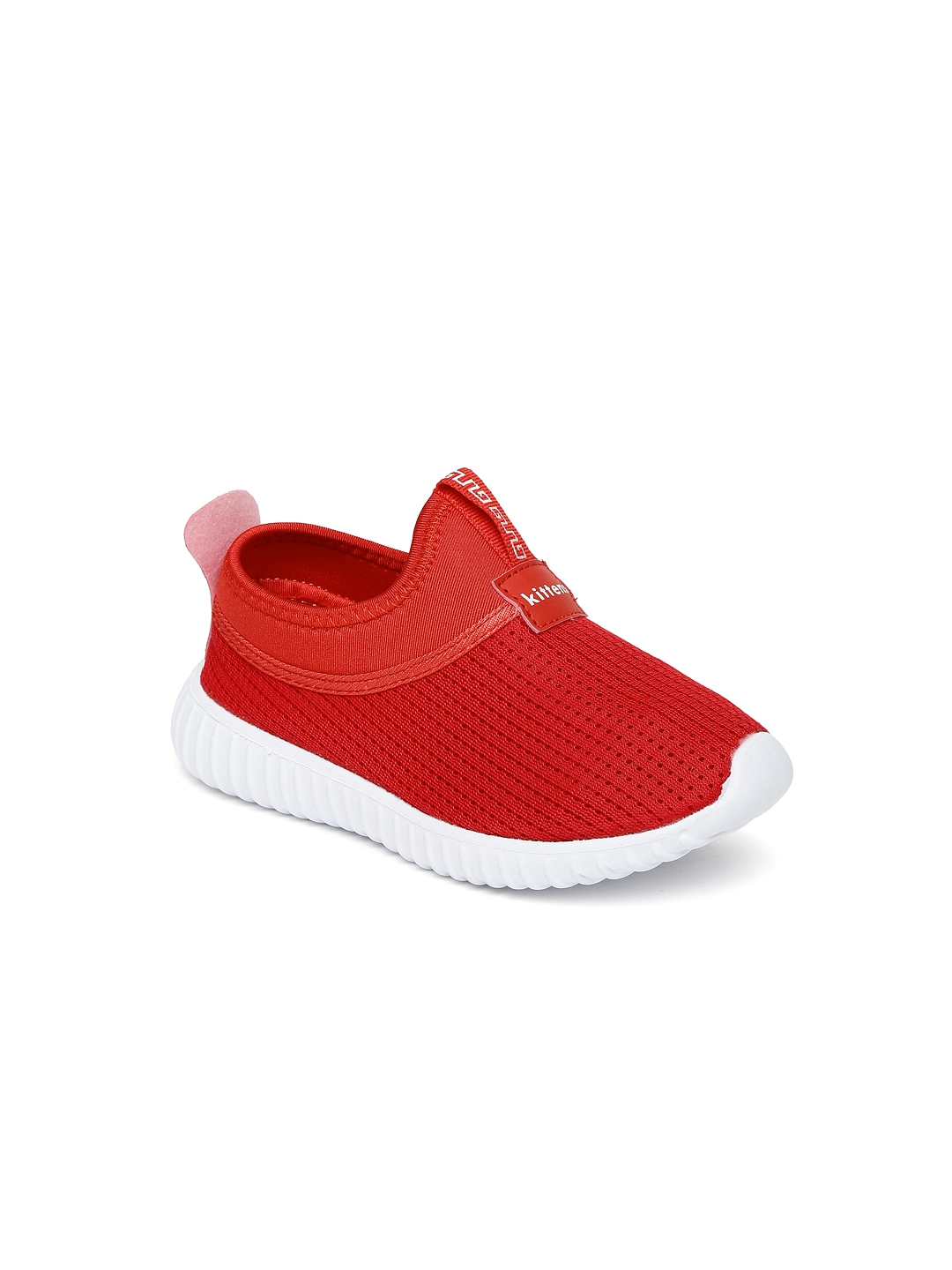 072879a7c4 Buy Kittens Boys Red Slip On Sneakers - Casual Shoes for Boys ...