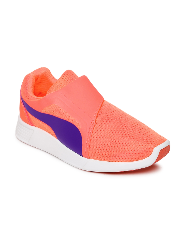 c152c11d50d Buy Puma Unisex Neon Orange ST Trainer Evo AC Jr Sneakers - Casual ...