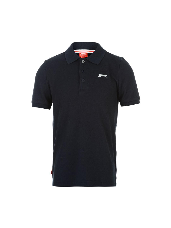 a9ec64ed Buy Slazenger Boys Navy Blue Solid Polo Collar T Shirt - Tshirts for ...