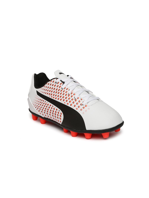 Puma Kids White Printed Adreno III AG Jr Training Shoes
