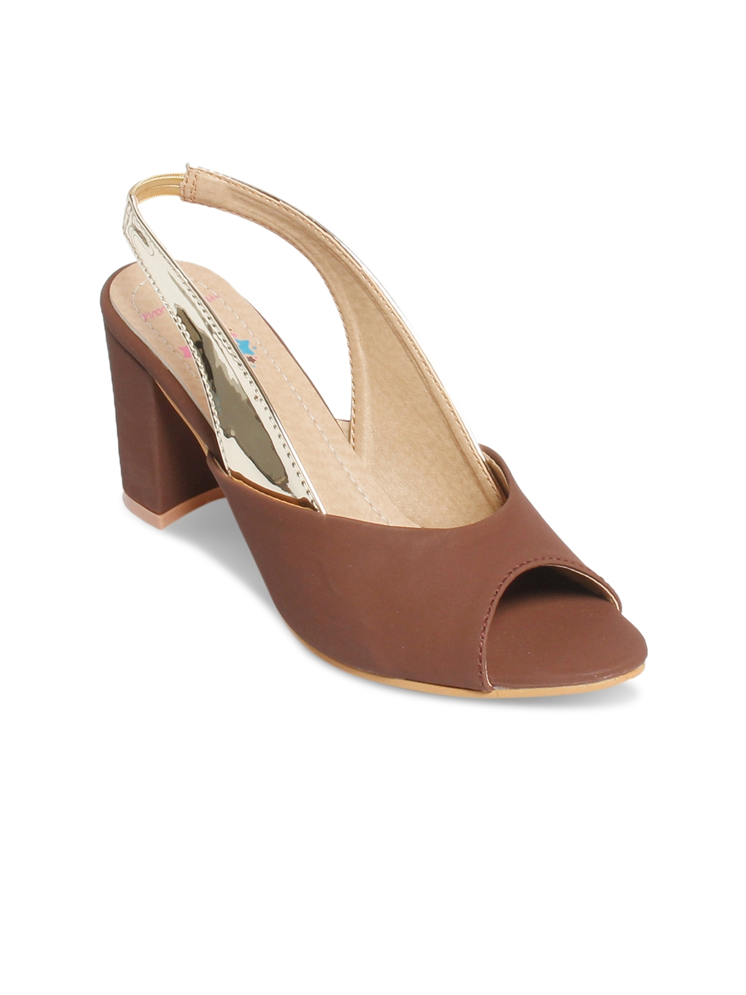 af8e200b0 Buy Meriggiare Women Brown Solid Sandals - Heels for Women 2324248 ...