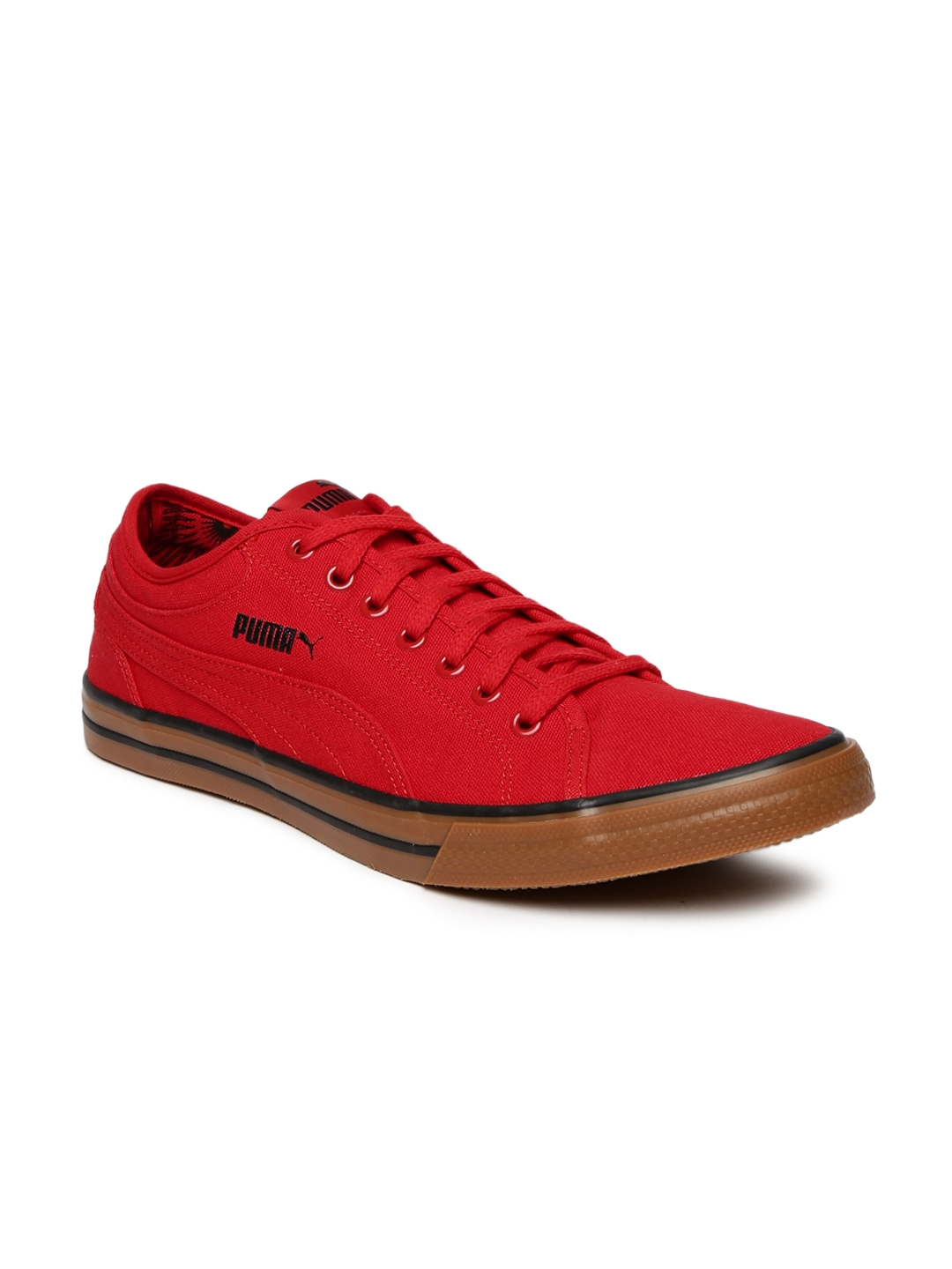 05f14d87f96b60 Buy Puma Unisex Red Yale Gum Solid Canvas Sneakers - Casual Shoes ...