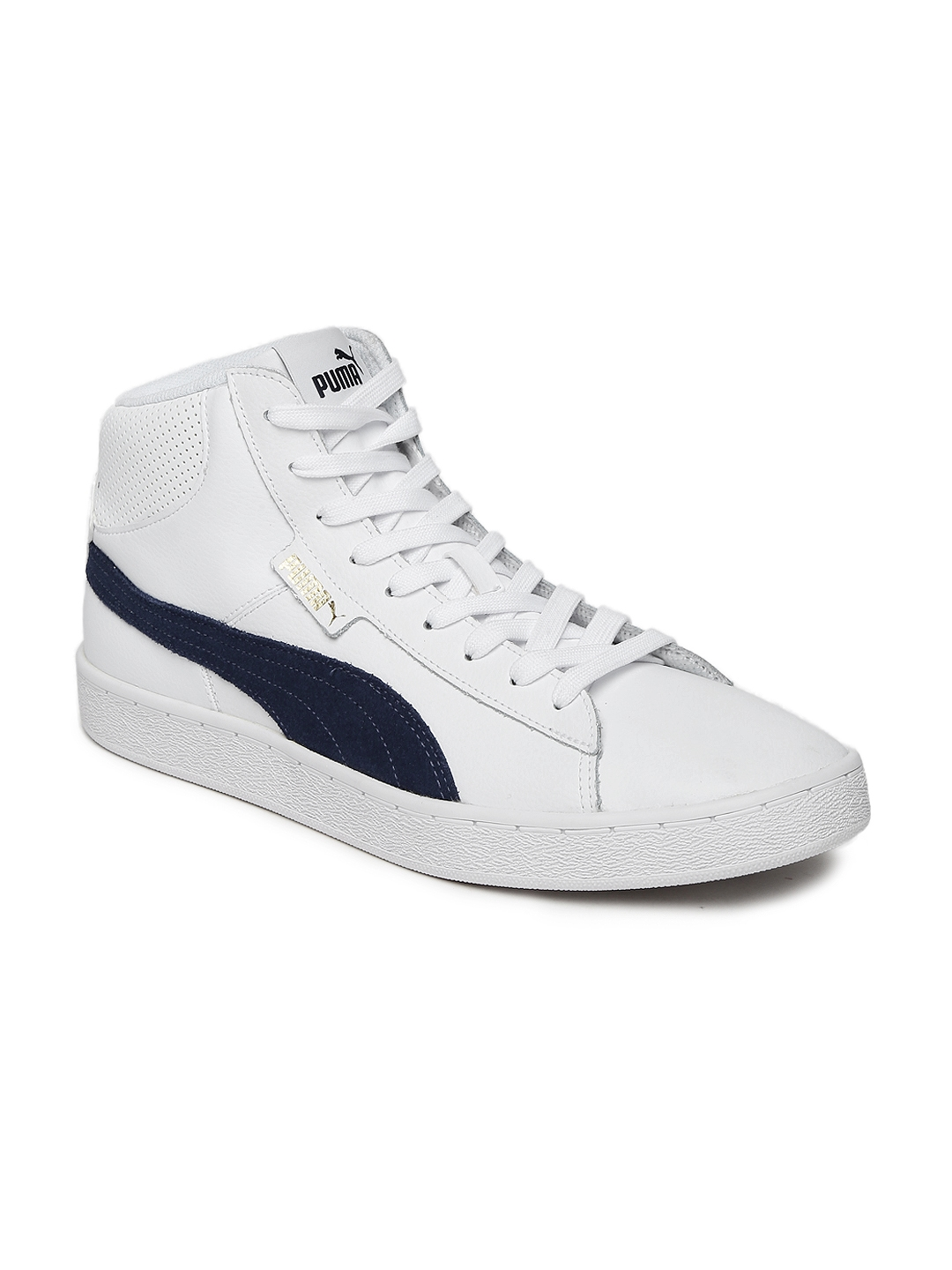 f0928bcf56c Buy Puma Men White 1948 Mid Top Leather Sneakers - Casual Shoes for ...