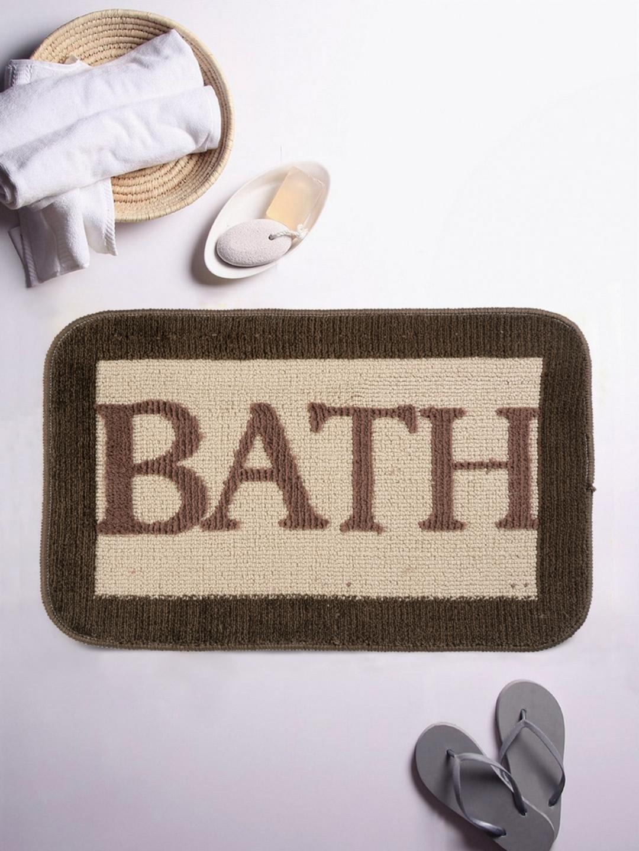 Buy Romee Brown Patterned Rectangular Bath Rug Bath Rugs For