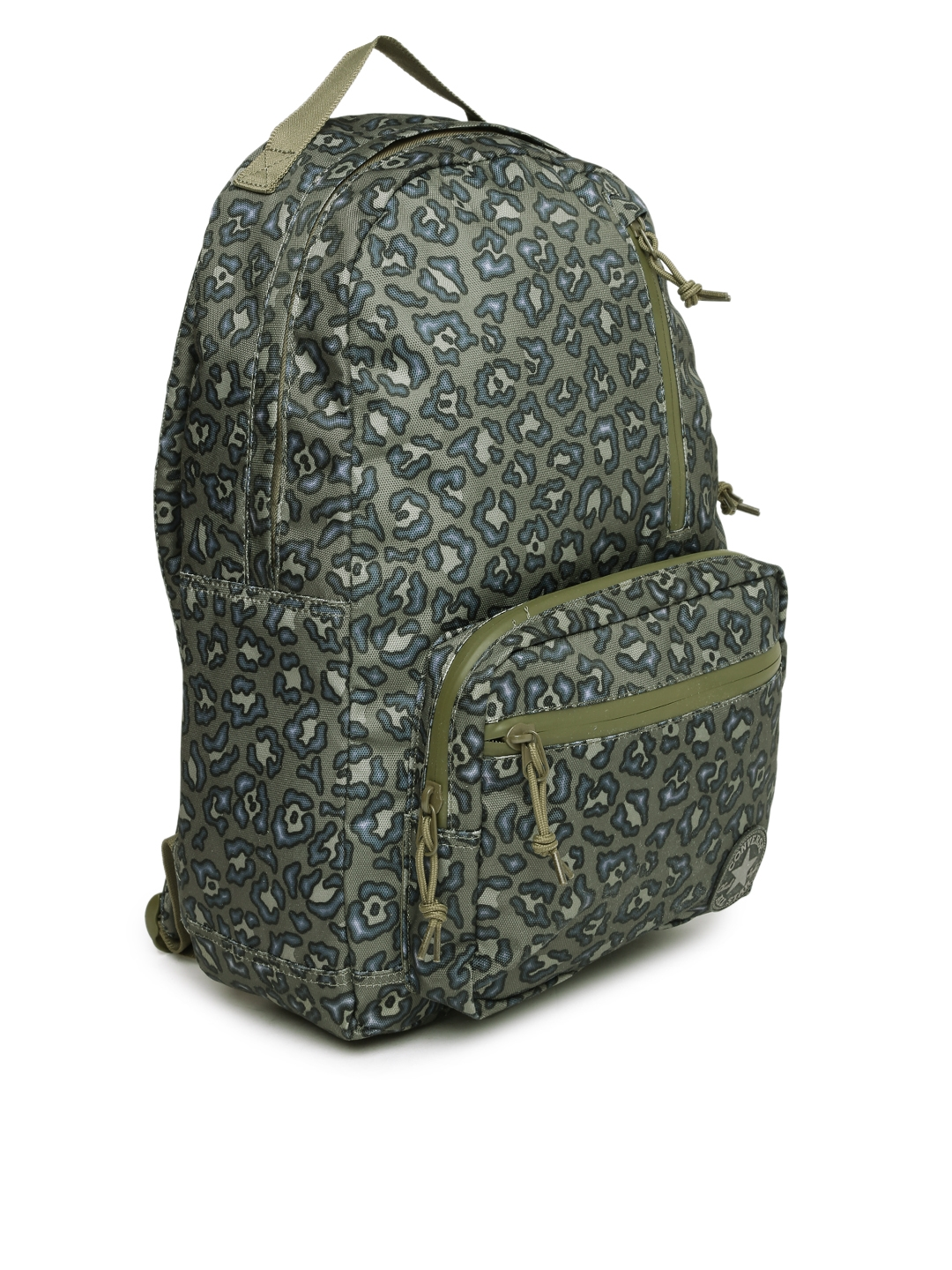 ae43f0715f Buy Converse Unisex Olive Green   Navy Graphic Print Backpack ...
