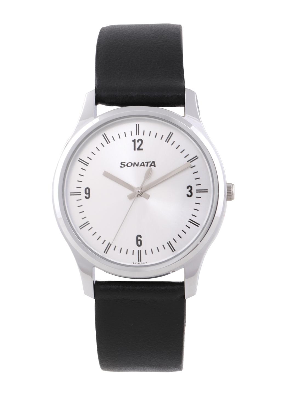 Sonata Essentials Men Silver Digital watch 77082SL01