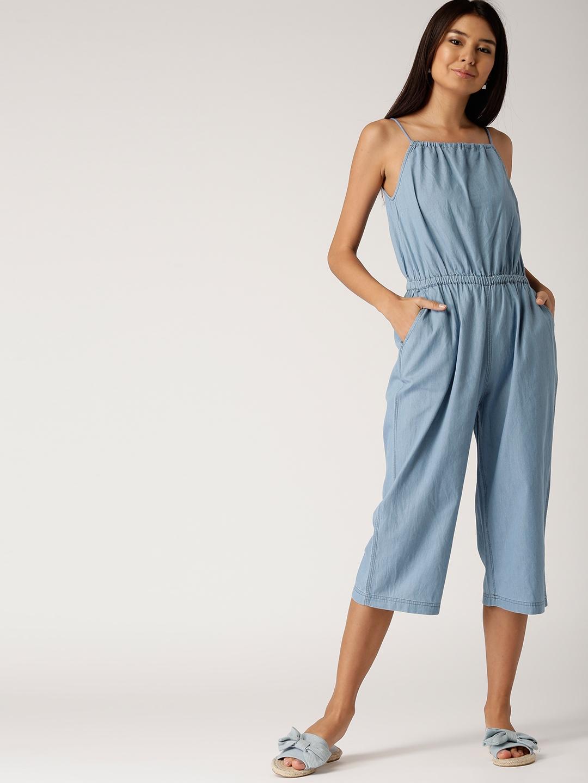 cd8776ddf133 Buy DressBerry Blue Solid Culotte Jumpsuit - Jumpsuit for Women ...