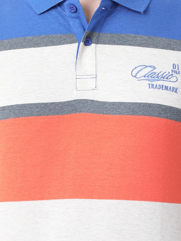 3e9cff467f70 Buy Classic Polo Men Multicoloured Striped Polo Collar T Shirt ...