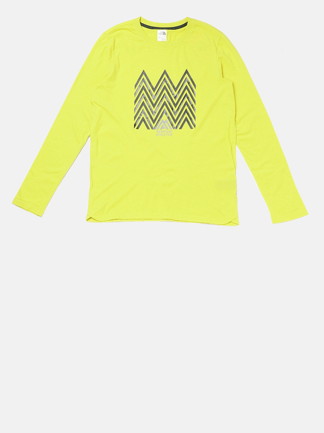 5dd46011f Buy The North Face Men Yellow Printed Yellow T Shirt - Tshirts for ...