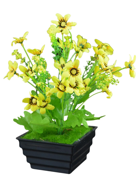 Buy Fancy Mart Artificial Daisy Flower Bush With Pot Artificial