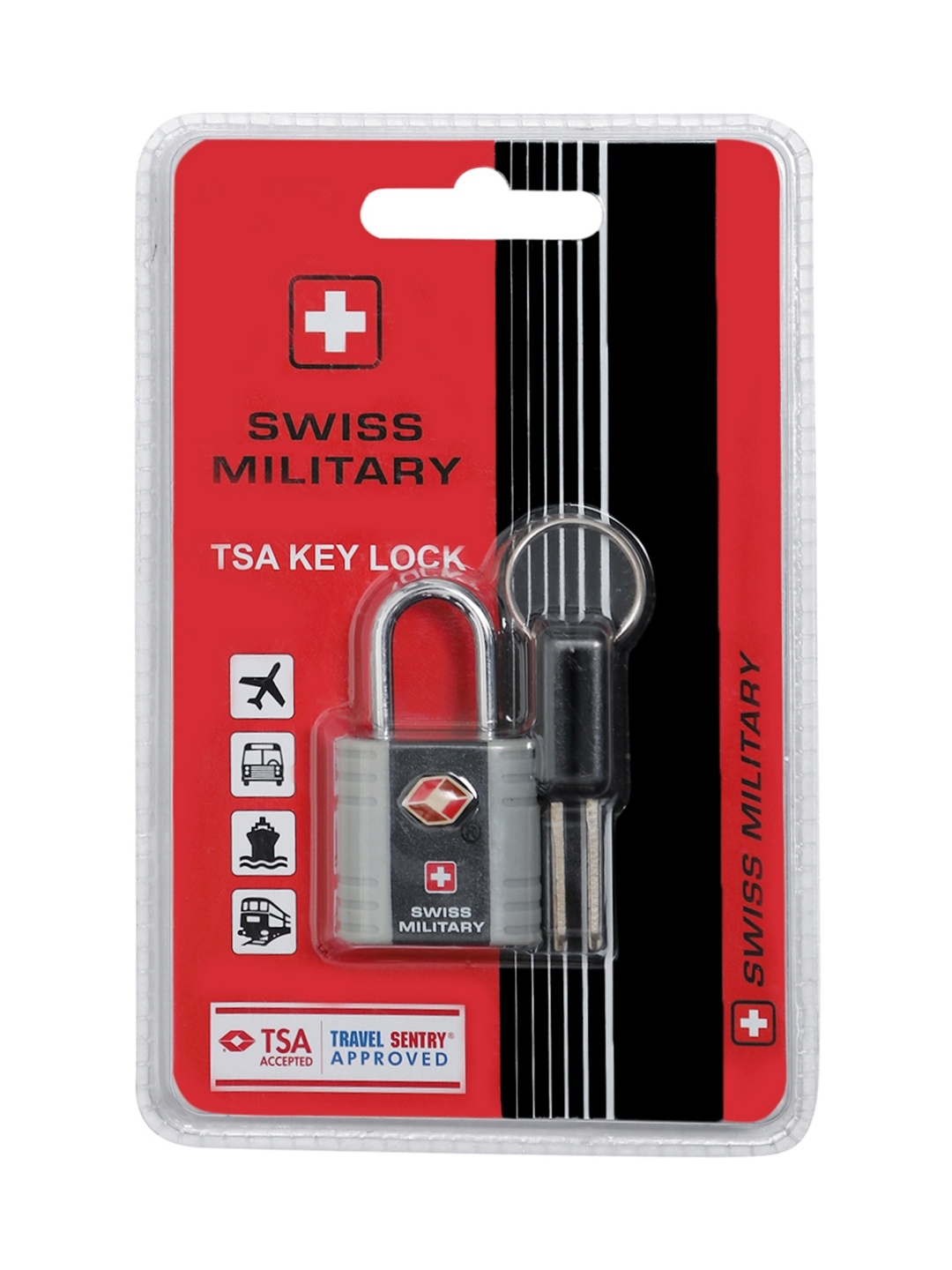 Swiss Military Black   Grey Safety Lock